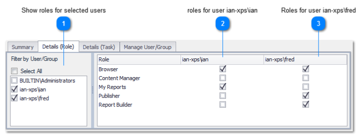 SSRS Security User/Group Roles